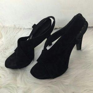 Diane von Furstenberg Black Zia Sandals Platforms